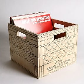 The Trompe L'oeil Wooden Milk Crate ($38) is a step-up from a plastic classic.