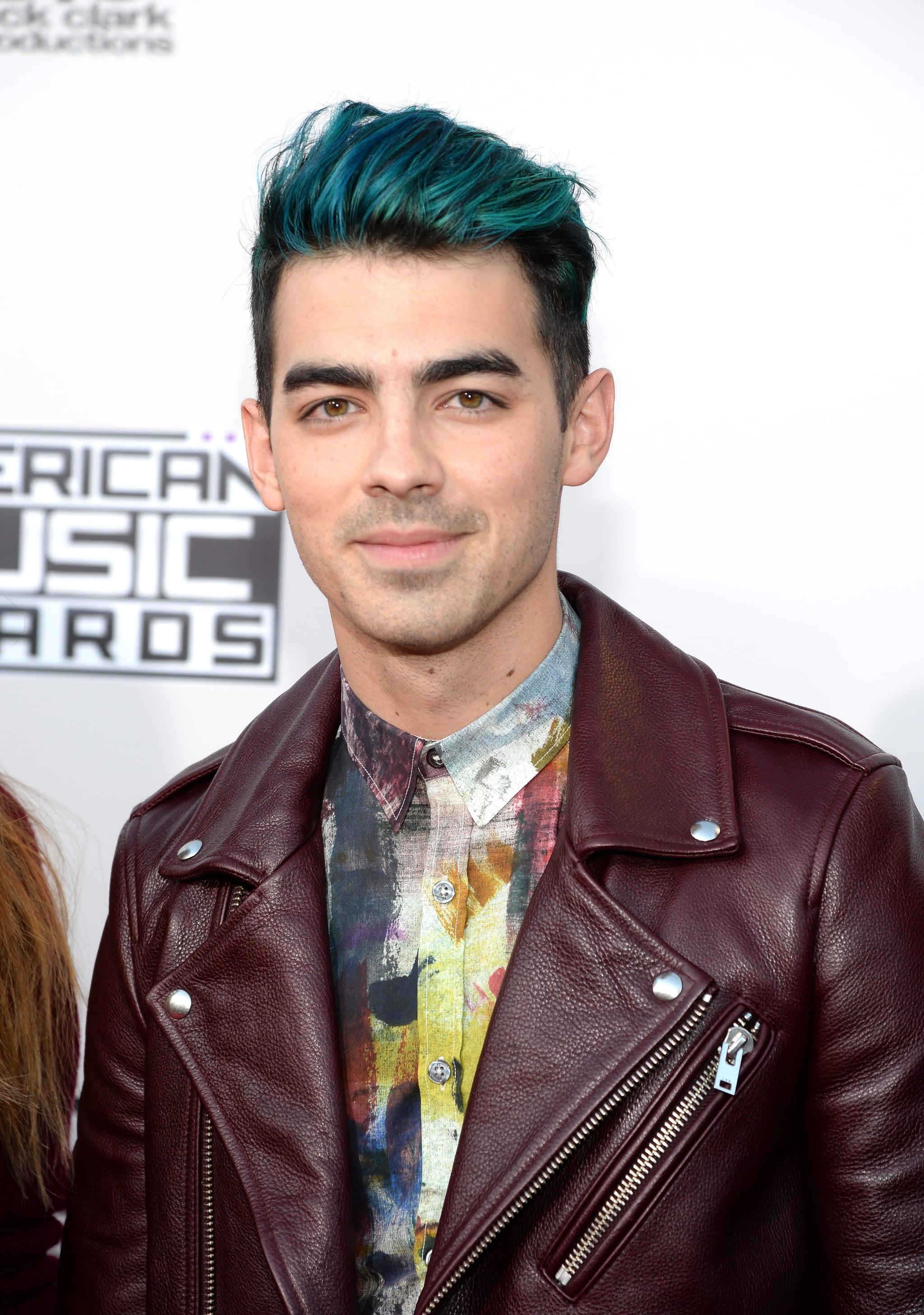 Joe Jonas Blue Hair 2015 Amas Popsugar Beauty