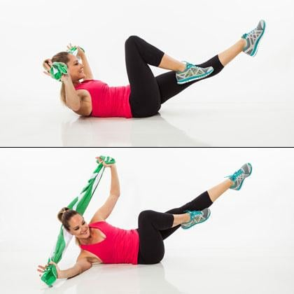 love handle workout with beach towel  popsugar fitness