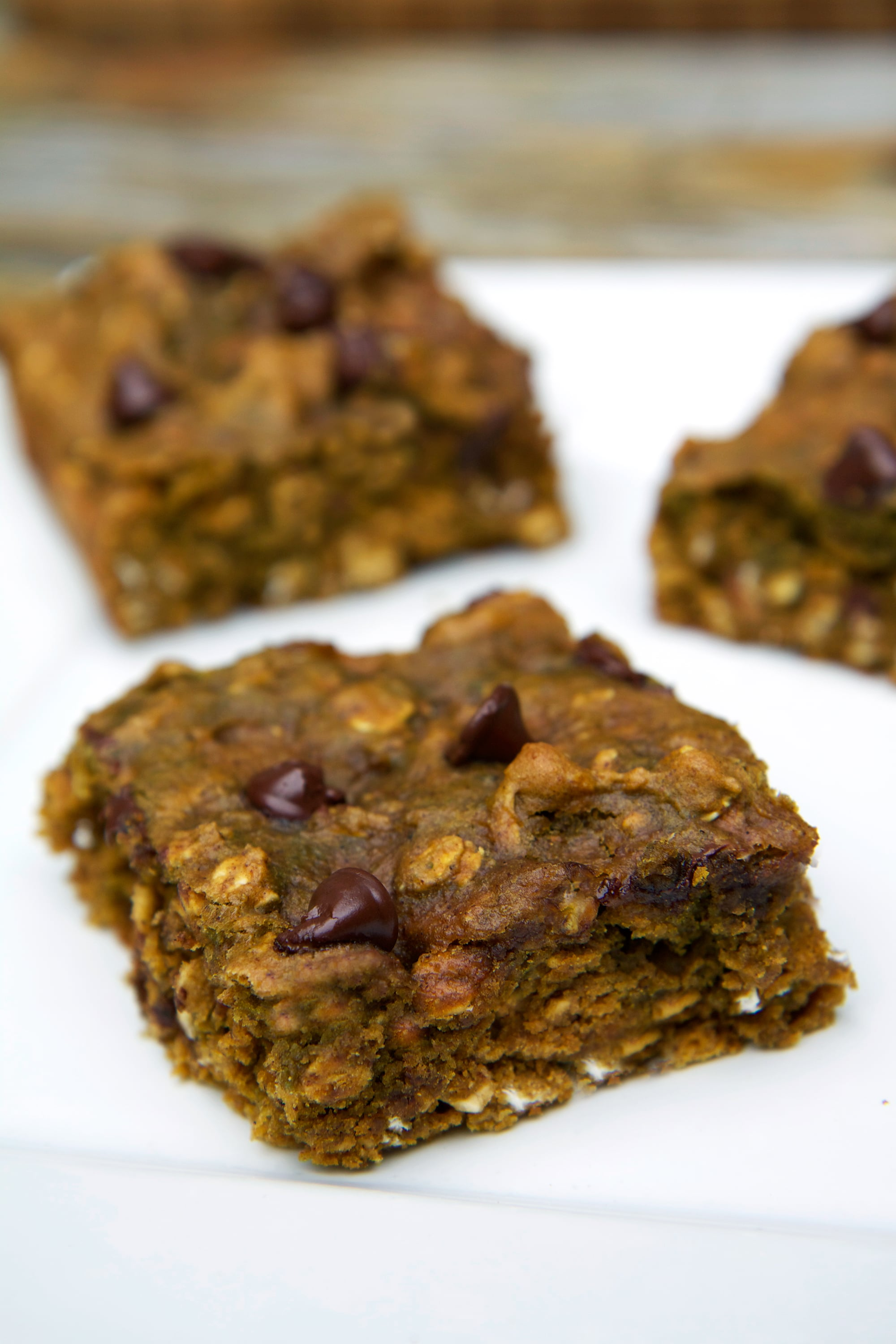Bake-Ahead Pumpkin Protein Breakfast Bars
