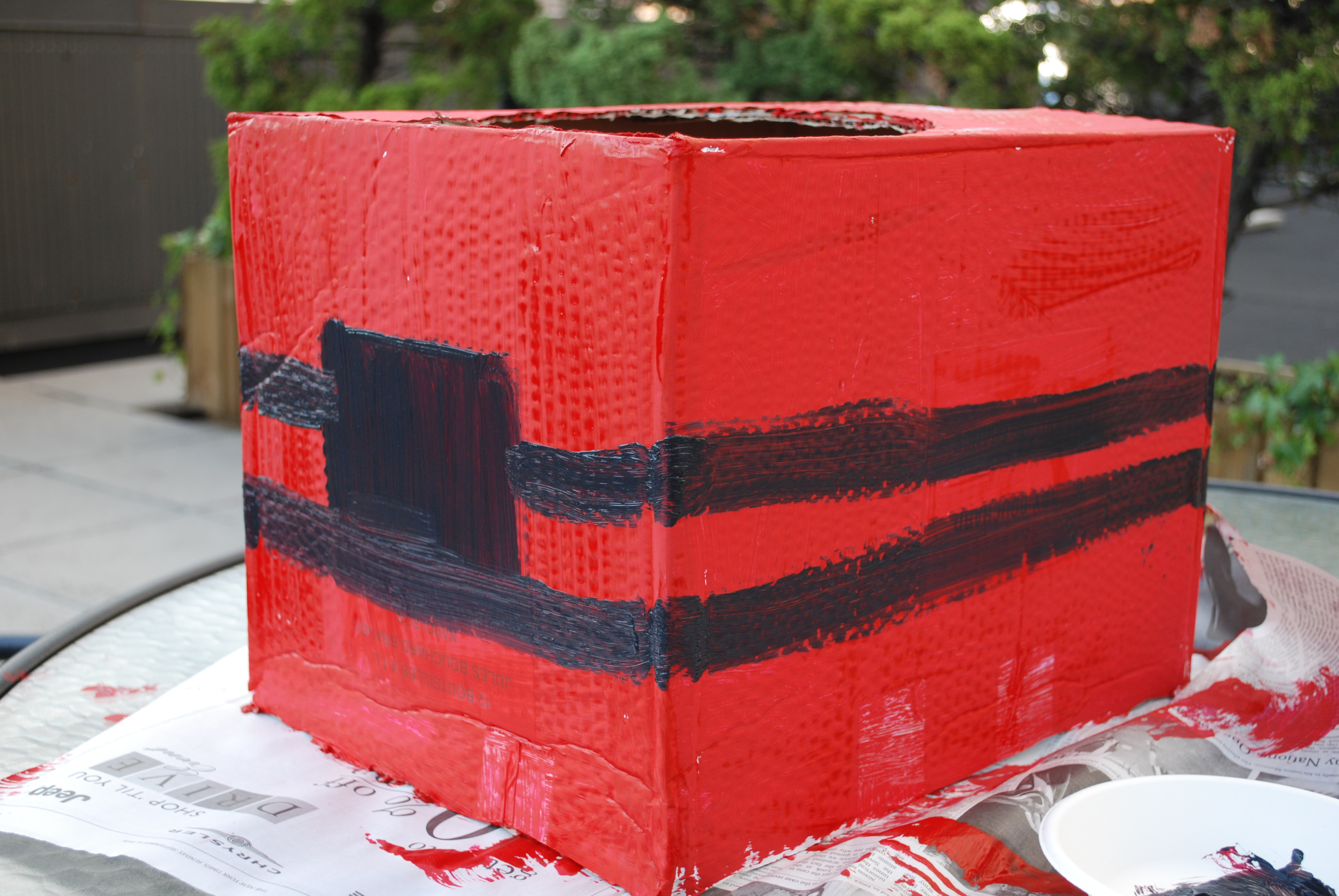 Next, begin enhancing your truck by painting stripes and details.